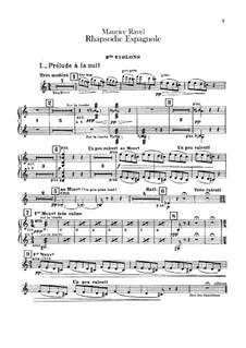 Rapsodie espagnole, M.54: Violins II part by Maurice Ravel