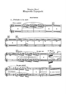 Rapsodie espagnole, M.54: Oboes and cor anglais parts by Maurice Ravel