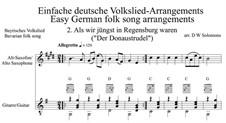 Als wir jüngst in Regensburg waren: For alto saxophone and guitar by folklore