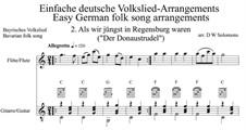 Als wir jüngst in Regensburg waren: For flute and guitar by folklore