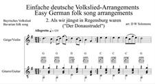 Als wir jüngst in Regensburg waren: For violin and guitar by folklore
