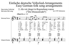Als wir jüngst in Regensburg waren: For voice and guitar by folklore