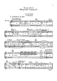 Rapsodie espagnole, M.54: Horns parts by Maurice Ravel