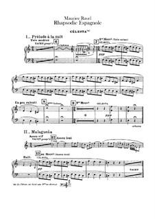 Rapsodie espagnole, M.54: Celesta part by Maurice Ravel