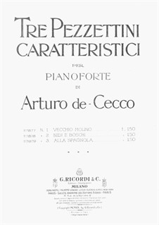 Tre Pezzettini: No.2 Nidi e Boschi by Arturo de Cecco