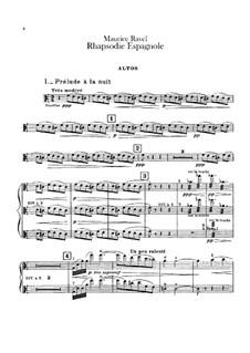 Rapsodie espagnole, M.54: Violas parts by Maurice Ravel