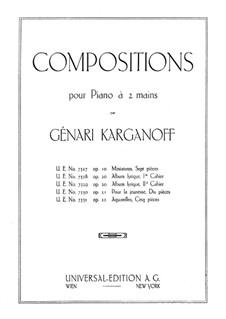 Adieu, Op.20: Cahier I by Genari Karganoff
