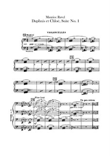 Daphnis et Chloé. Suite No.1, M.57a: Cellos parts by Maurice Ravel