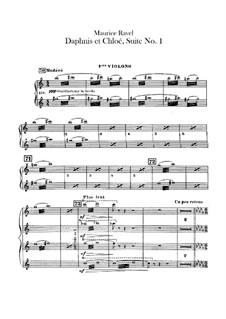 Daphnis et Chloé. Suite No.1, M.57a: Violins I parts by Maurice Ravel