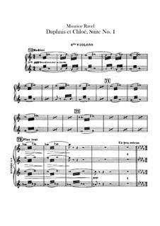 Daphnis et Chloé. Suite No.1, M.57a: Violins II parts by Maurice Ravel