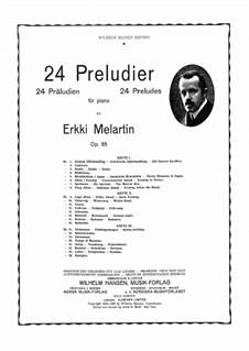 Preludes, Op.85: Volume 2 by Erkki Melartin