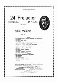 Preludes, Op.85: Volume 3 by Erkki Melartin