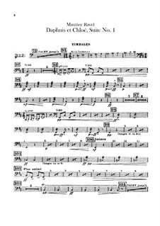Daphnis et Chloé. Suite No.1, M.57a: Percussion parts by Maurice Ravel