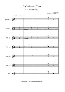 O Christmas Tree (O Tannenbaum): Full score, parts by folklore