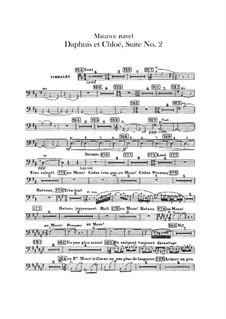 Daphnis et Chloé. Suite No.2, M.57b: Percussion part by Maurice Ravel