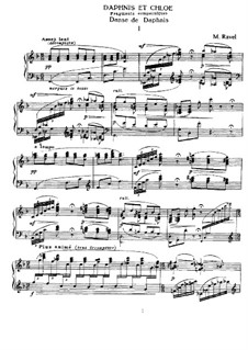 Daphnis et Chloé, M.57: Fragments, for piano by Maurice Ravel