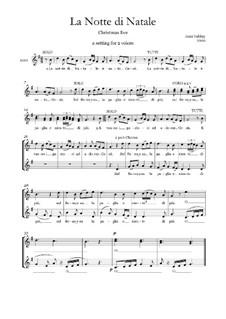 Christmas Eve (La notte di Natale) SA voices: Christmas Eve (La notte di Natale) SA voices by folklore