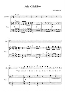 L'oca del Cairo (The Goose of Cairo), K.422: Aria Chichibio 'Ogni Momento' by Wolfgang Amadeus Mozart