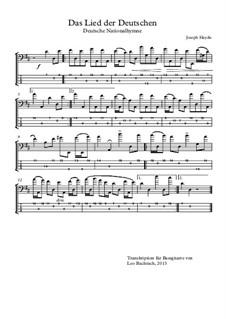 Austrian National Hymn, Hob.XXVIa/43: For bass guitar with tab by Joseph Haydn