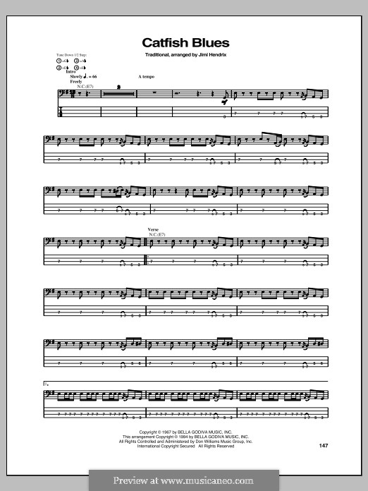 Catfish Blues: For guitar with tab by Robert Petway