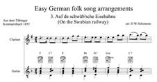 Auf de Schwäb'sche Eisebahne: For clarinet and guitar by folklore