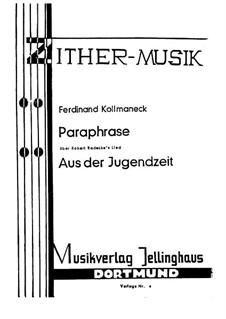 Paraphrase, Op.542: Paraphrase by Ferdinand Kollmaneck