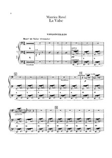 La valse. Choreographic Poem for Orchestra, M.72: Cellos parts by Maurice Ravel