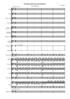 Starlight Sleighride for School Orchestra: Starlight Sleighride for School Orchestra by Mark Bisson