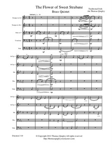 The Flower of Sweet Strabane: For brass quintet by folklore
