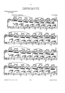 Impromptu in D Major, Op.6: For piano by Anatoly Lyadov