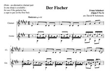 Fisherman, D.225 Op.5 No.3: For clarinet and guitar by Franz Schubert