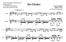 Fisherman, D.225 Op.5 No.3: For flute and guitar by Franz Schubert