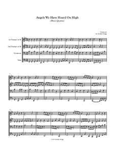 Angels We Have Heard on High: For brass quartet by Unknown (works before 1850)