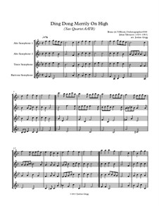 Ding Dong! Merrily on High: For sax quartet AATB by folklore