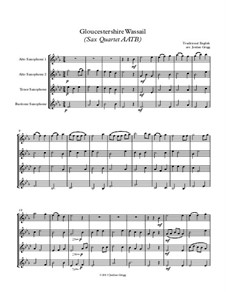 Gloucestershire Wassail: For sax quartet AATB by folklore