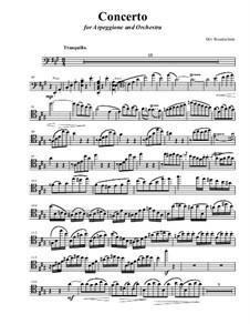 Concerto for arpeggione and orchestra: Arpeggione part in concert pitch by Dov Rosenschein