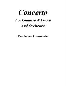 Concerto for arpeggione and orchestra: Full score by Dov Rosenschein