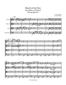 March of the Toys: For string quartet by Victor Herbert