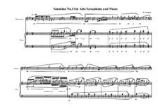 3 Sonatina's for Alto saxophone and piano: Sonatina No.1, MVWV 539 by Maurice Verheul