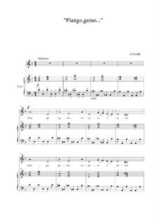Piango, gemo sospiro e peno...: D Minor by Antonio Vivaldi