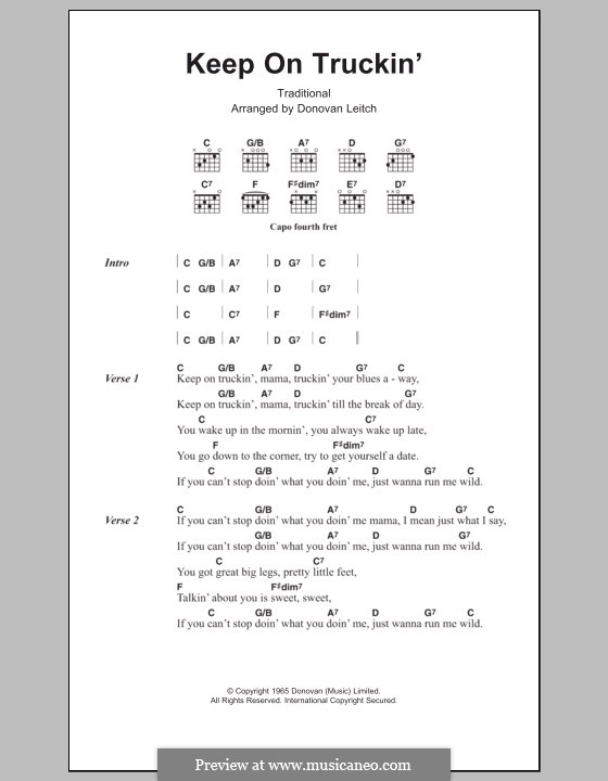 Keep on Truckin': Lyrics and chords by folklore