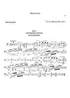 Mlada. Suite: Cellos parts by Nikolai Rimsky-Korsakov