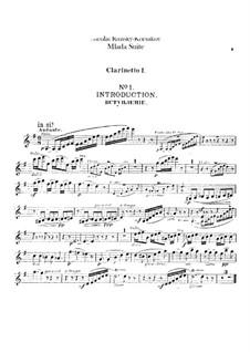 Mlada. Suite: Clarinets parts by Nikolai Rimsky-Korsakov