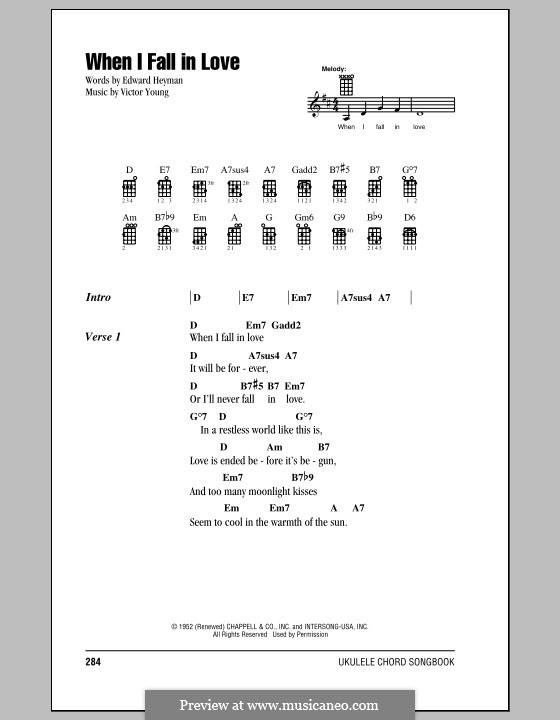 When I Fall In Love Celine Dion By V Young Sheet Music On Musicaneo