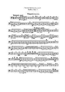 Sadko. Musical Picture, Op.5: Percussion parts by Nikolai Rimsky-Korsakov