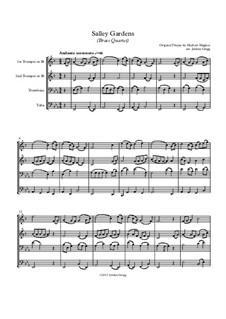 Salley Gardens: For brass quartet by Herbert Hughes