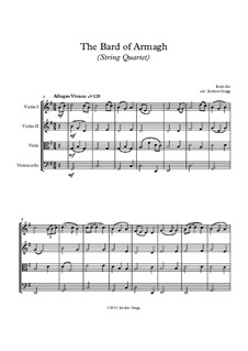 The Bard of Armagh: For string quartet by folklore