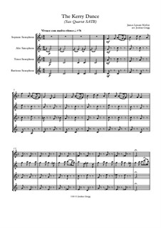 The Kerry Dance: For sax quartet SATB by James L. Molloy