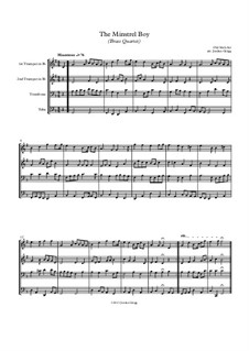 The Minstrel Boy (The Moreen): For brass quartet by folklore