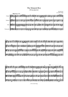 The Minstrel Boy (The Moreen): For string quartet by folklore